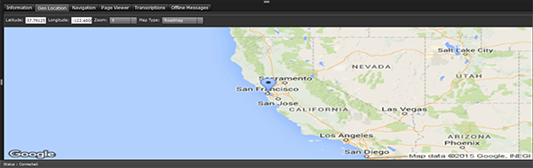 live chat visitor location